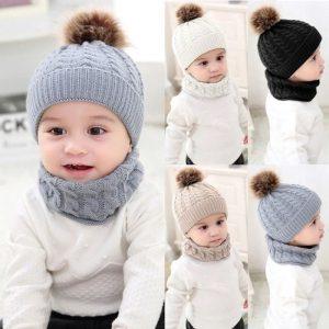 mũ len khăn cổ trẻ em